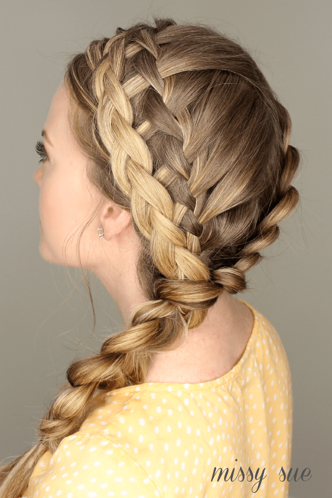 Dutch, Waterfall, Dutch Merged Braid | MIssySue.com
