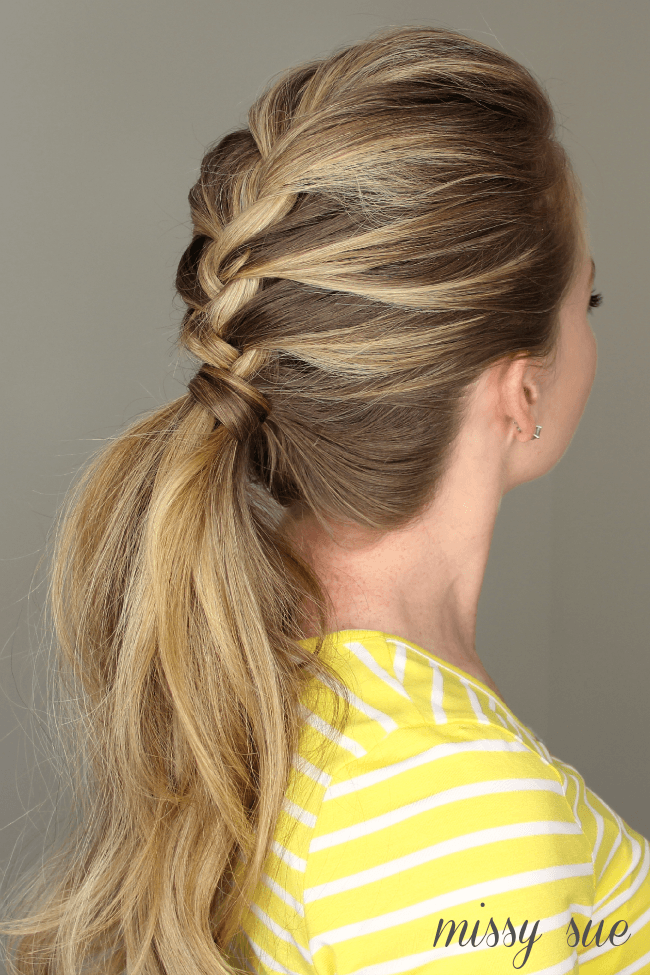 French braid ponytail solutioingenieria