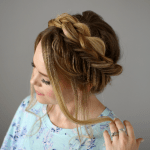 Mixed Fishtail + Dutch Crown Braid