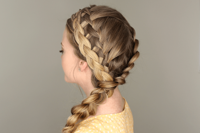 Dutch, Waterfall, Dutch Merged Braid
