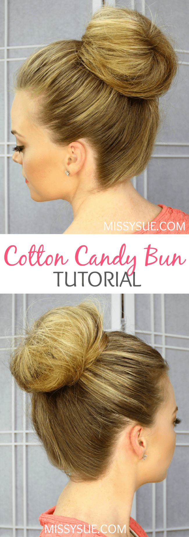 Cotton Candy Bun Tutorial | MIssySue.com
