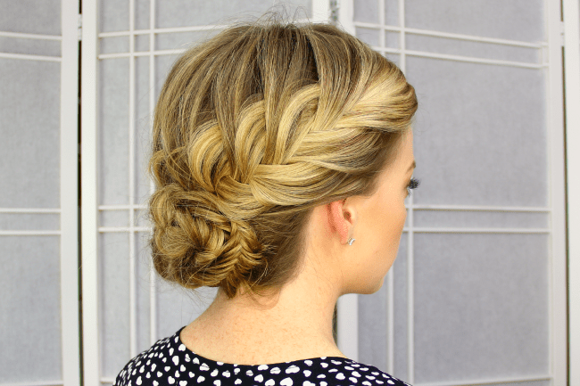 Fishtail French Braid Updo | MissySue.com