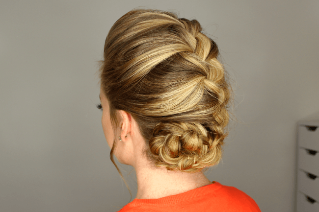 French braid rolled bun an error occurred ccuart Images