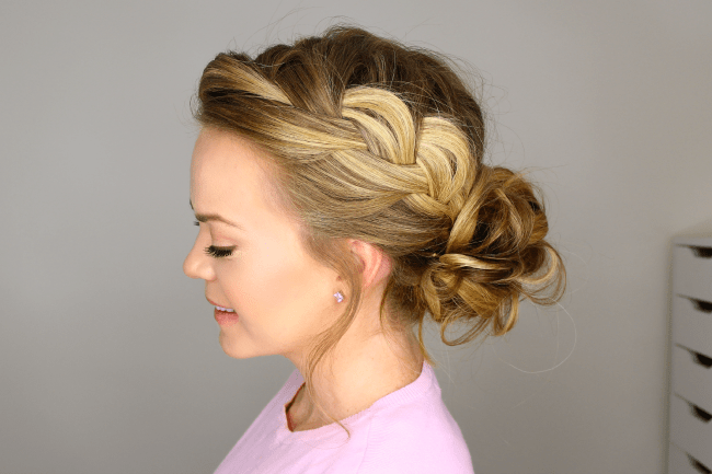 French braid into messy bun missy sue ccuart Images