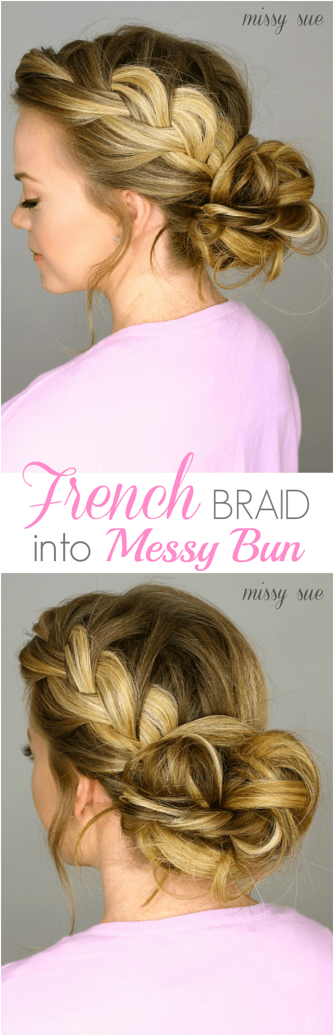 Fine French Braid Into Messy Bun Short Hairstyles For Black Women Fulllsitofus