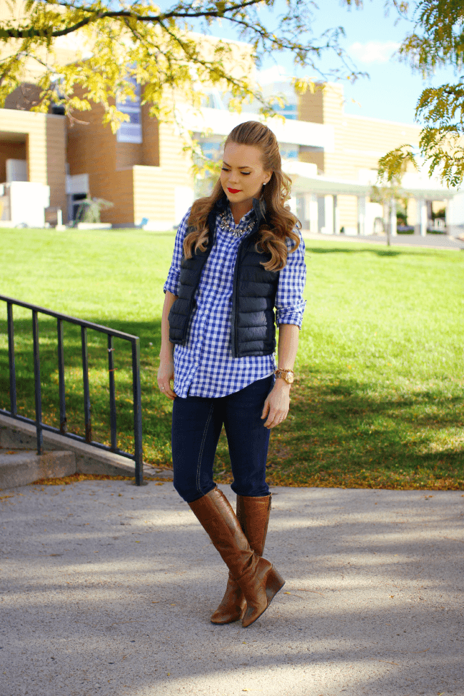 Gingham and Boots | MissySue.com
