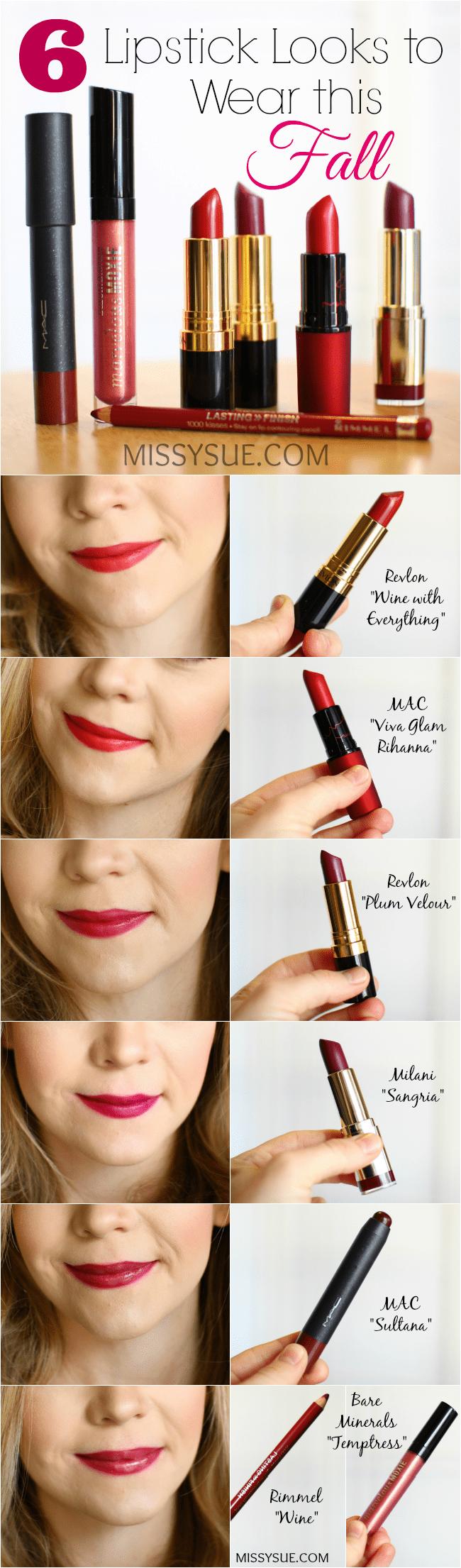 Fall Lipstick Shades | MissySue.com