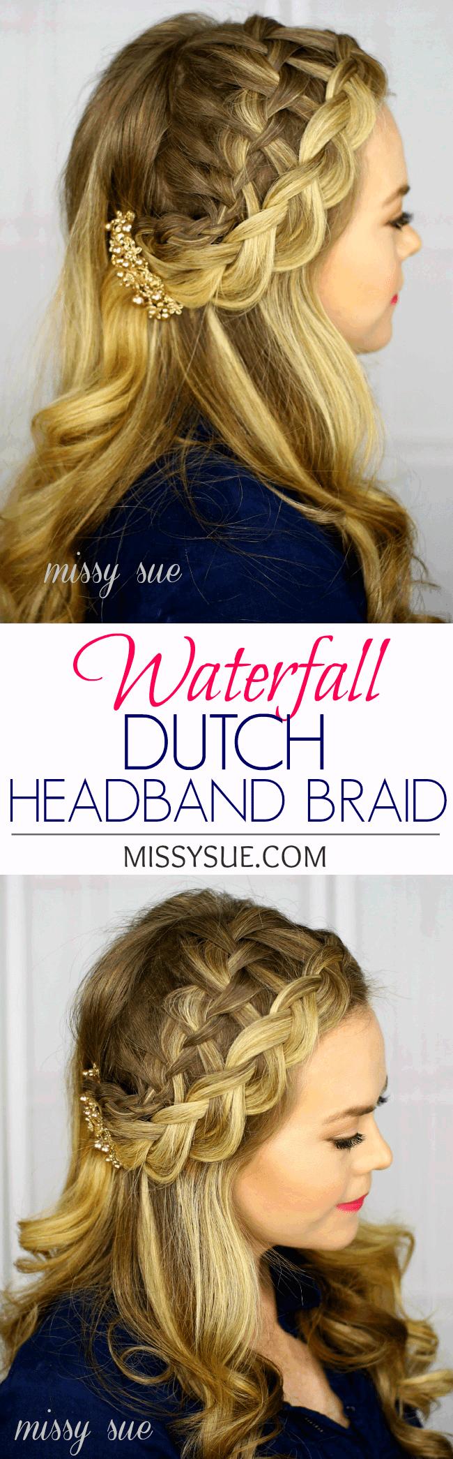 Waterfall Dutch Braid Headband