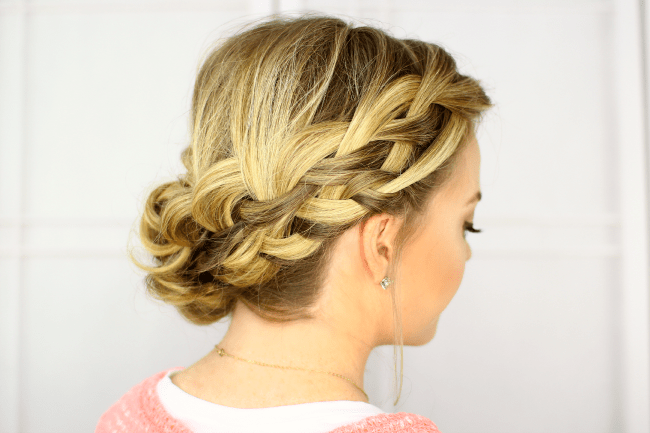 Waterfall French Braid Updo | MissySue.com