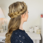 half up dutch crown braid