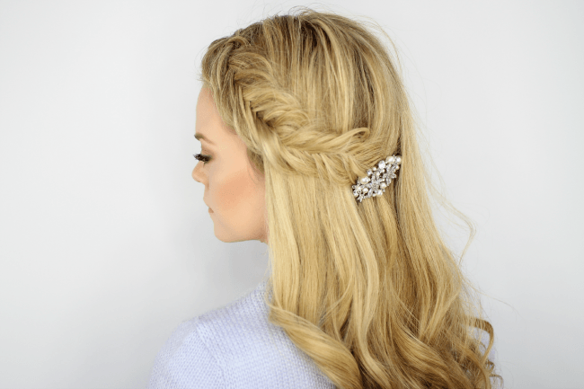 Inverted Fishtail Headband Braid