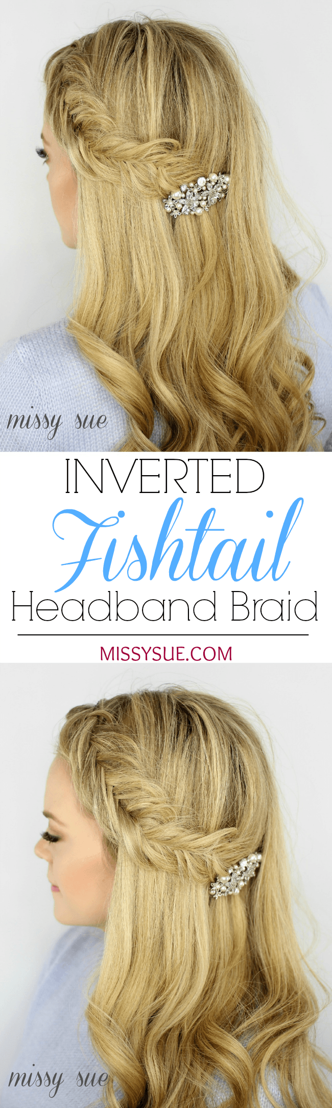 Inverted Fishtail Braided Headband