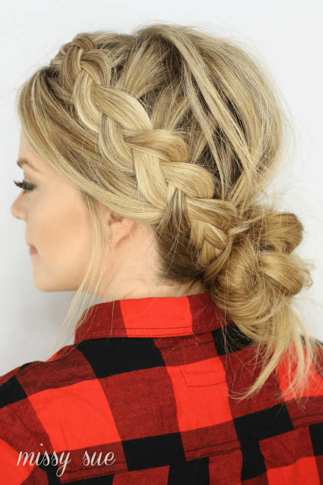 Admirable Dutch Braids And Low Messy Bun Missy Sue Hairstyle Inspiration Daily Dogsangcom