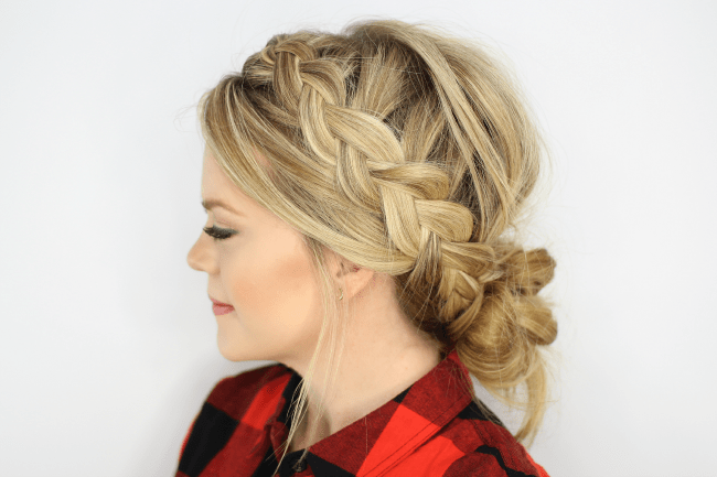 Enjoyable Dutch Braids And Low Messy Bun Missy Sue Hairstyles For Women Draintrainus