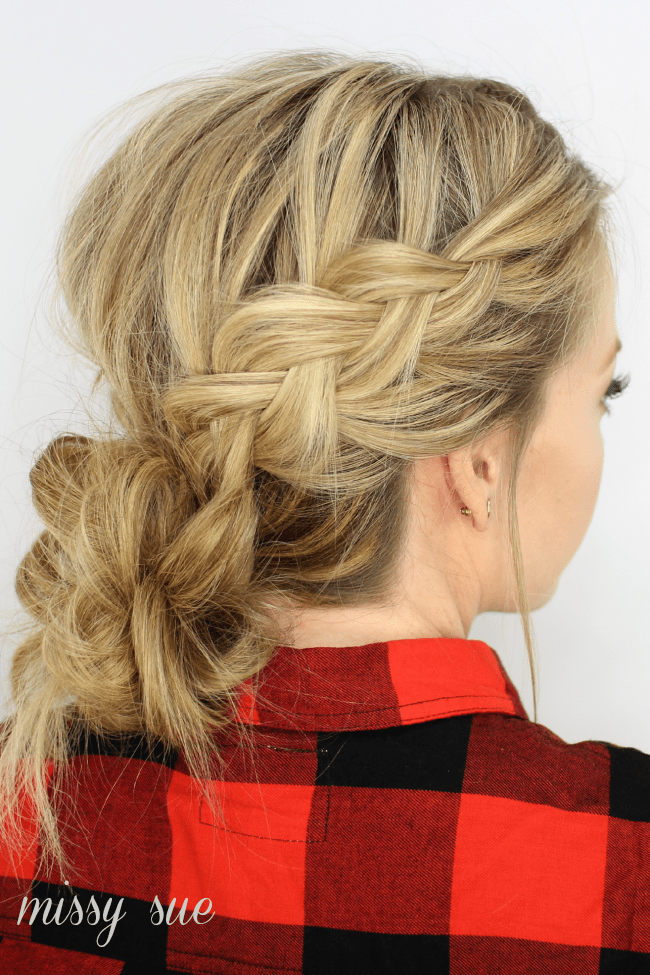 Incredible Dutch Braids And Low Messy Bun Missy Sue Hairstyle Inspiration Daily Dogsangcom