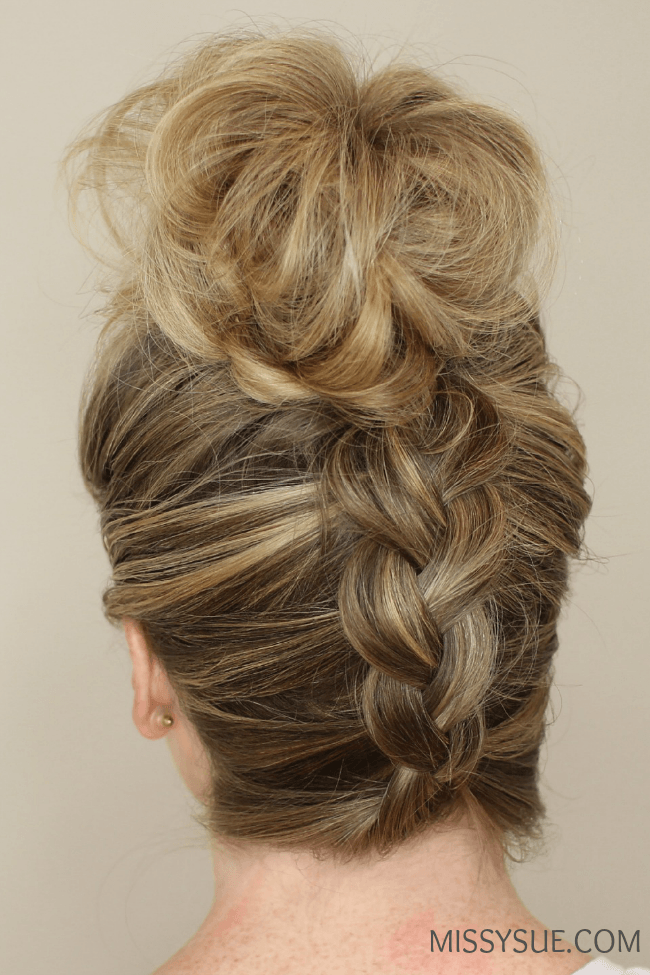 Upside Down Braid to Bun | MissySue.com