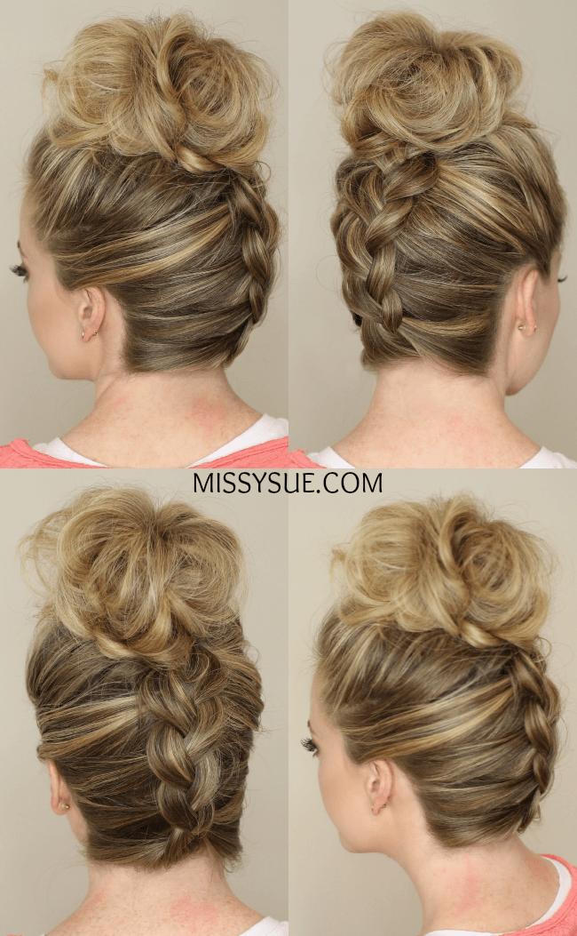 Upside Down Braid to Bun | MissySue.com