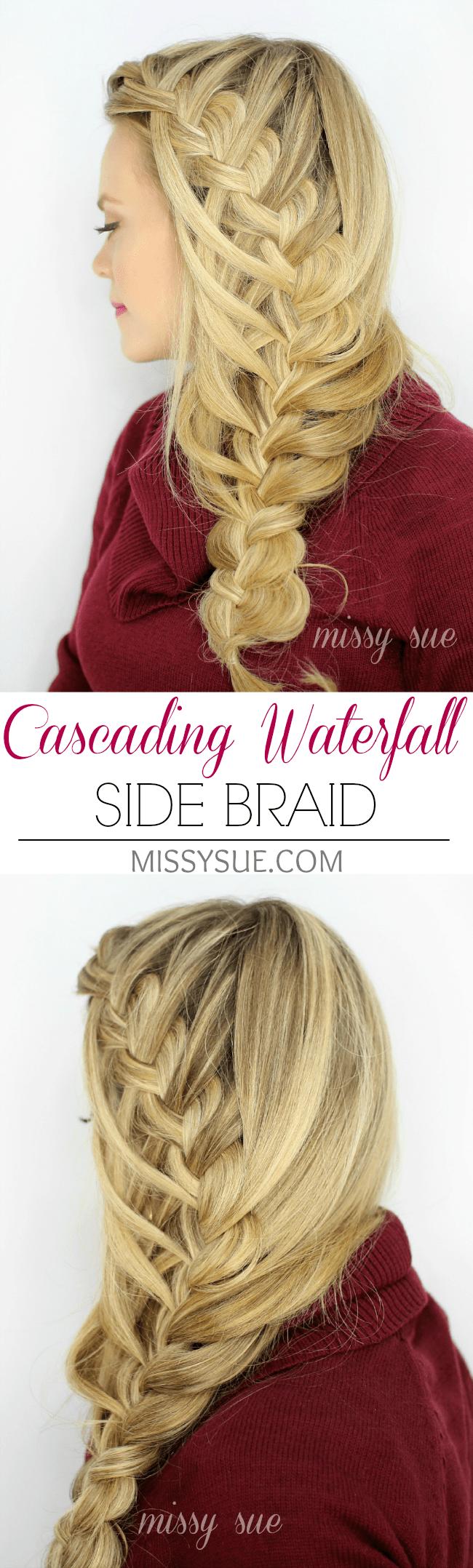 Cascading Waterfall Side Braid