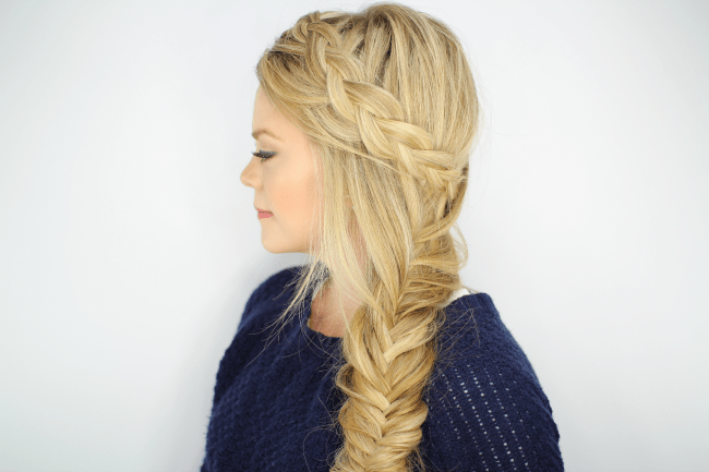 Dutch Fishtail Side Braid