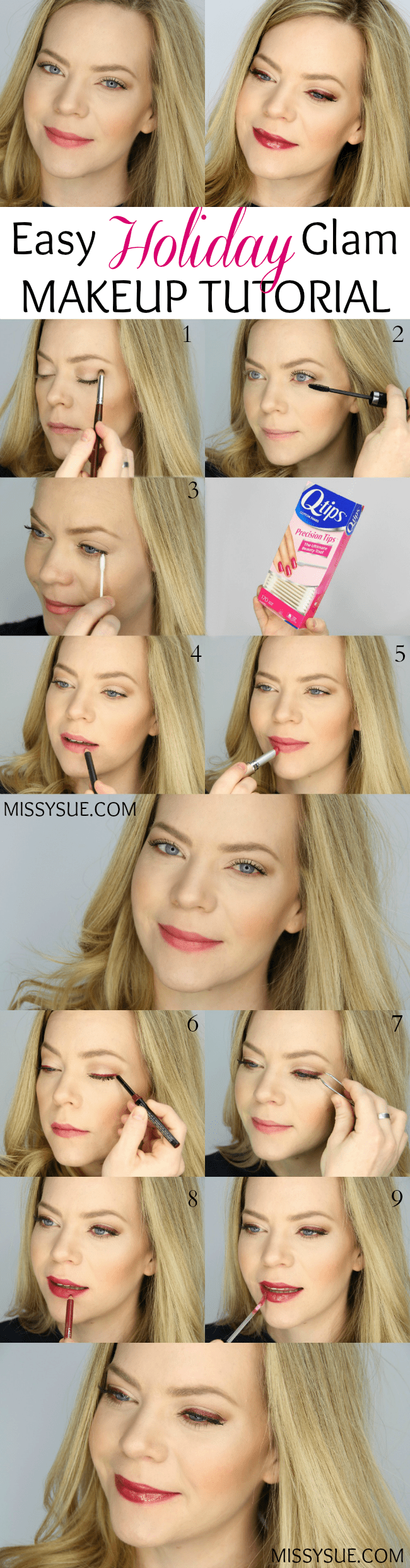 Easy Holiday Glam Makeup Tutorial