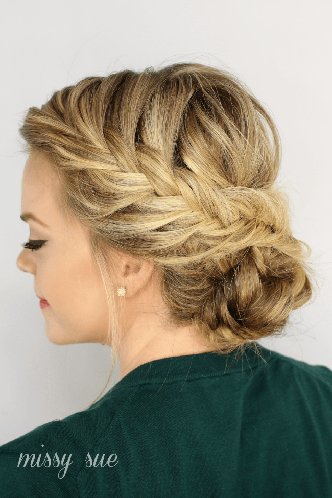 plait hair up styles fishtail braided updo 4884