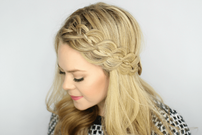 Four Strand Headband Braid