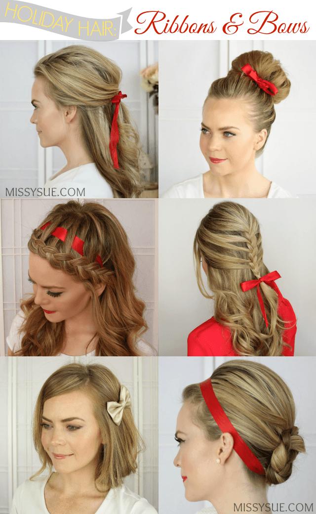 Holiday Hair: Ribbons and Bows