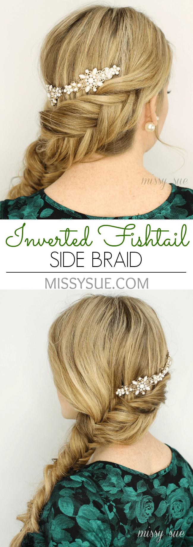 Inverted Fishtail Side Braid