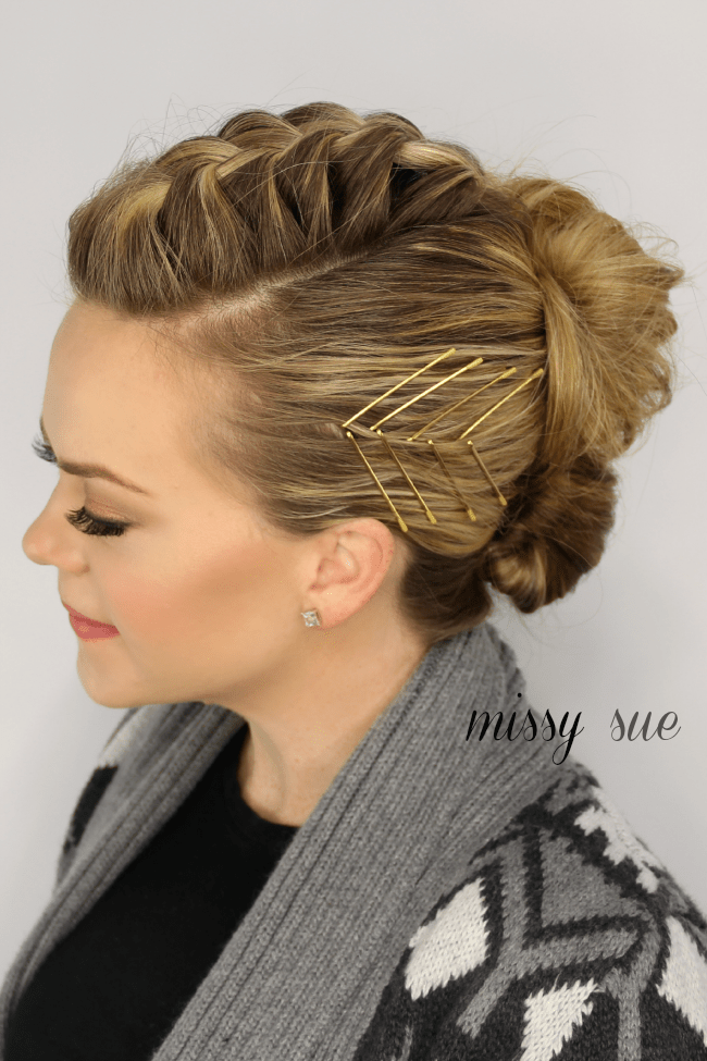 Mohawk French Braid Updo