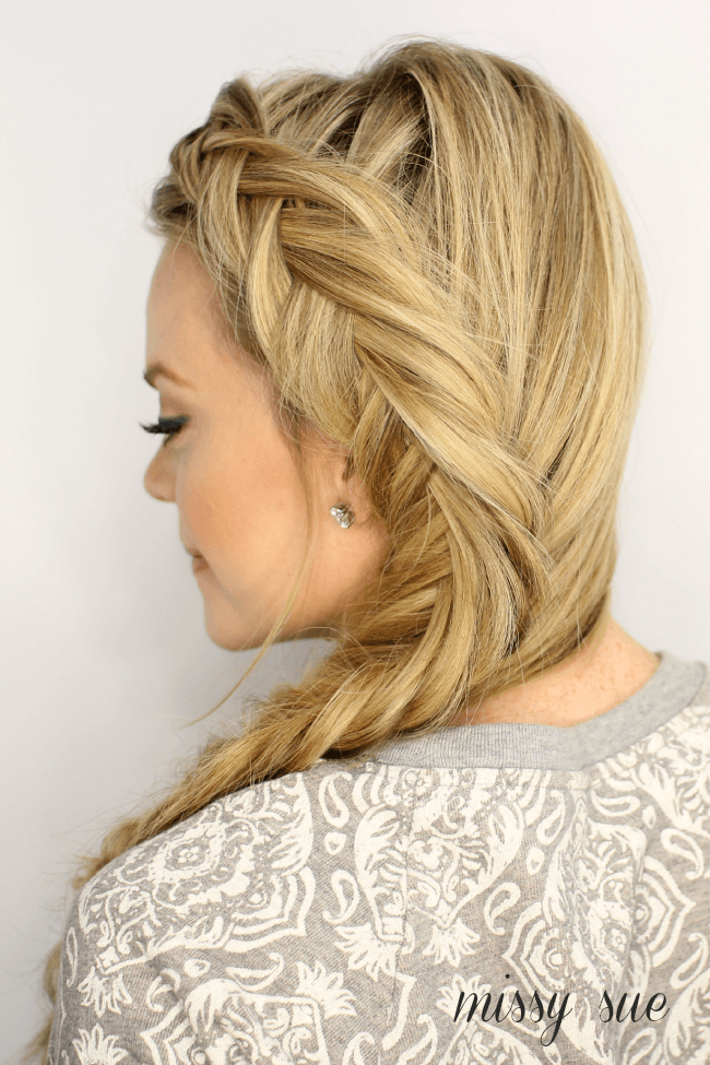 how to french fishtail your own hair