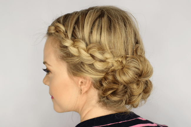 Incredible Easy Knotted Updo Short Hairstyles Gunalazisus