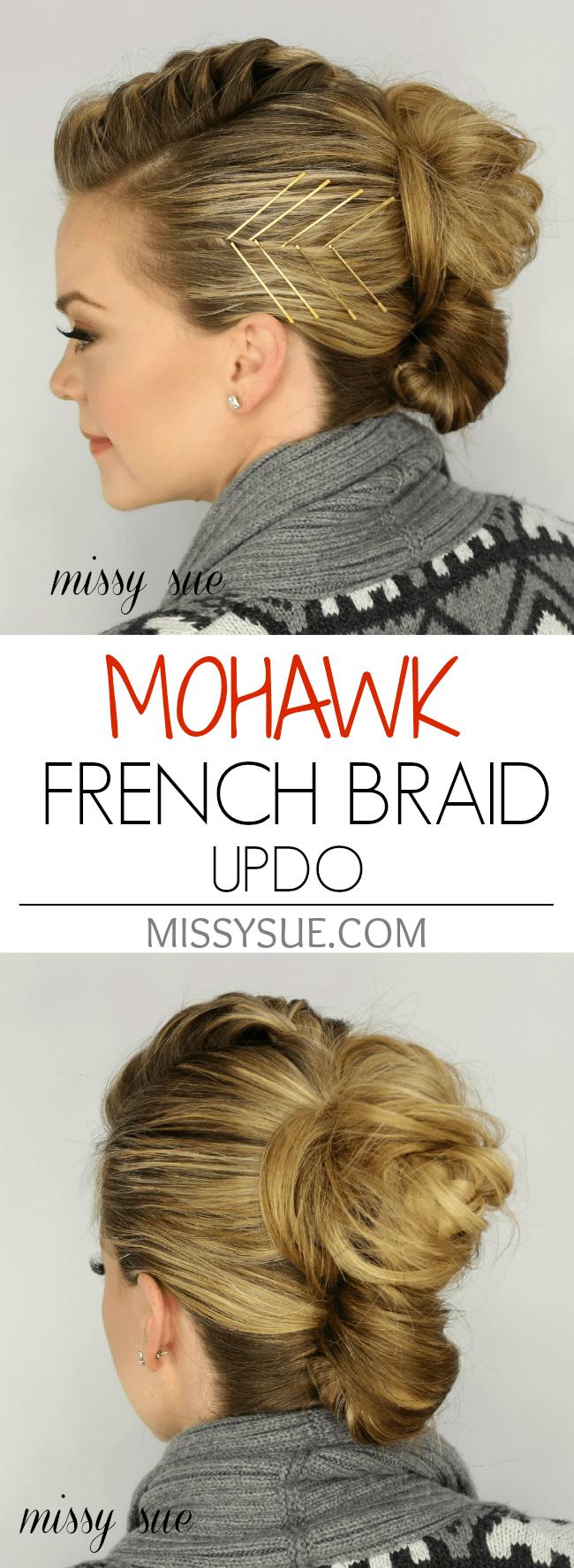 Mohawk French Braid Updo