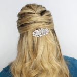 Criss Cross Half Updo