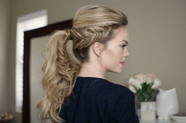 Dutch Fishtail Ponytail