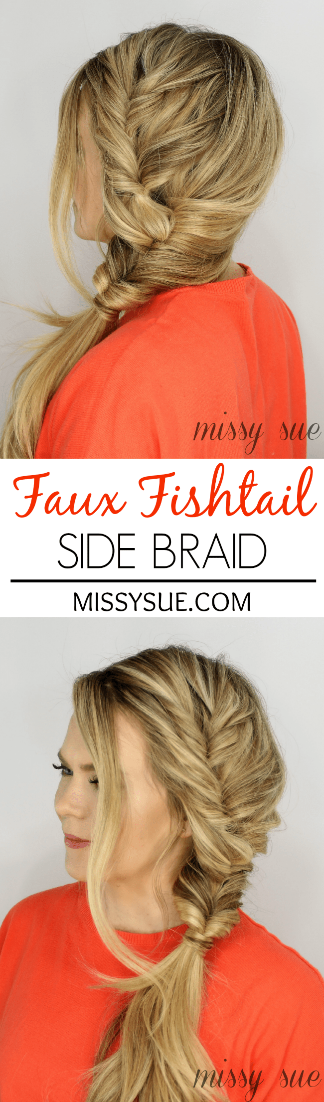Faux Fishtail Side Braid