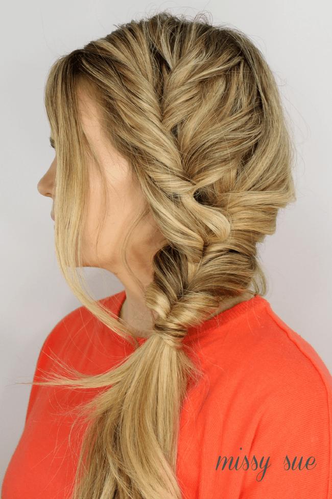 Faux Fishtail Side Braid