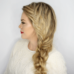 Fishtail French Knotted Side Braid