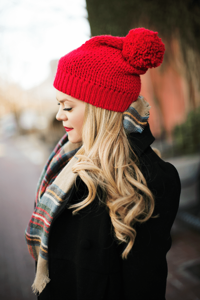 red-beanie-plaid-scarf