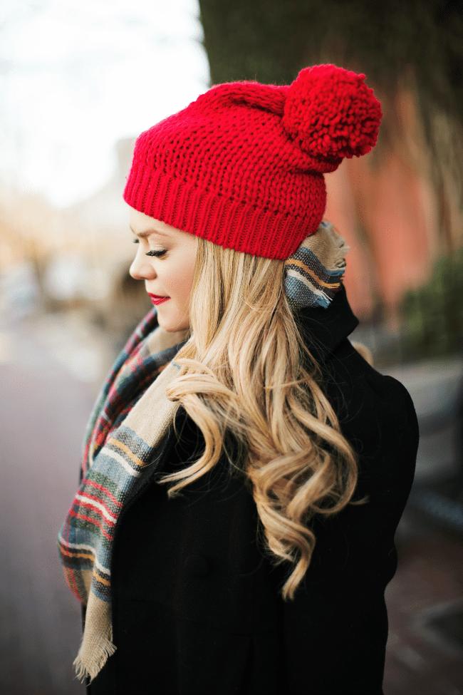 red-beanie-plaid-scarf