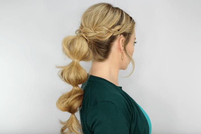 Braid Wrapped Bubble Ponytail | Braid 4