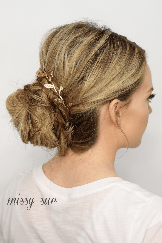 Braid Wrapped Low Bun | MissySue.com