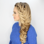 Cascading Waterfall Side Braid