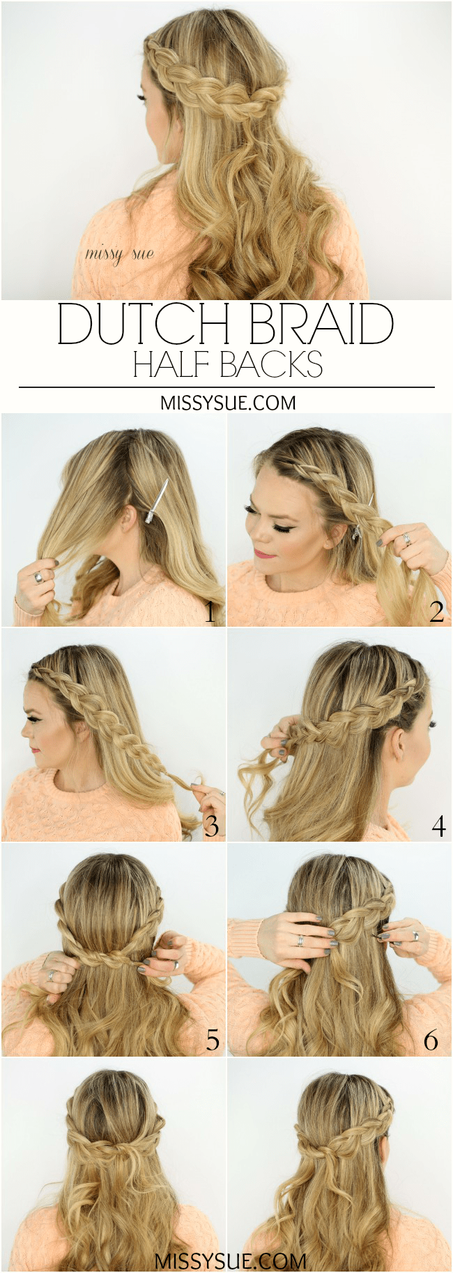 Party hairstyles half up half down step by step