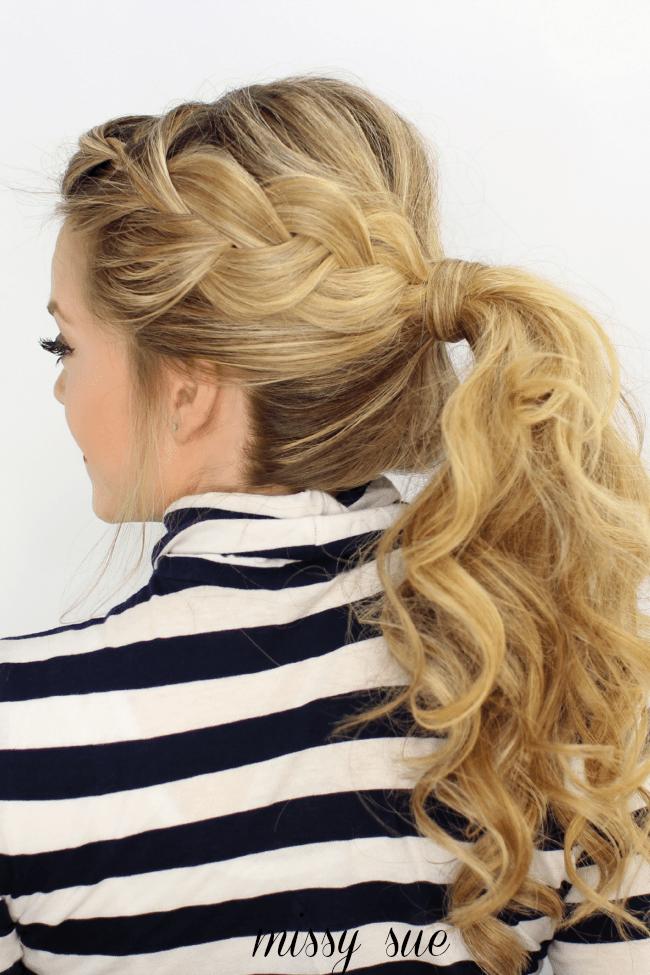 Swell Side French Braid Ponytail Short Hairstyles Gunalazisus