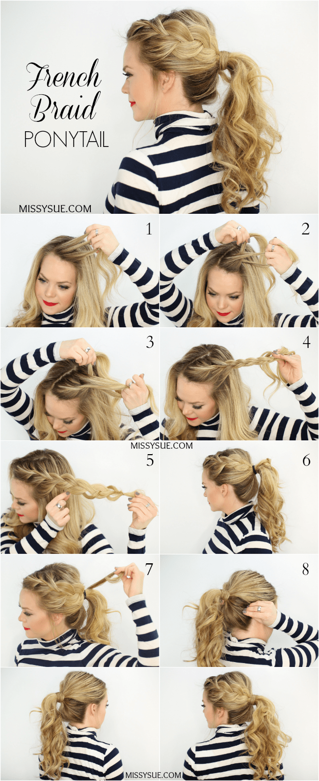 Side french braid ponytail solutioingenieria Gallery