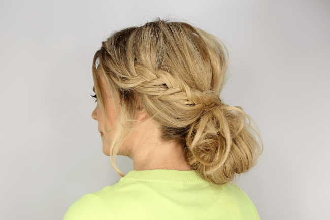 Mixed Braids and Messy Bun