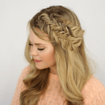 Double Fishtail Headband Braids