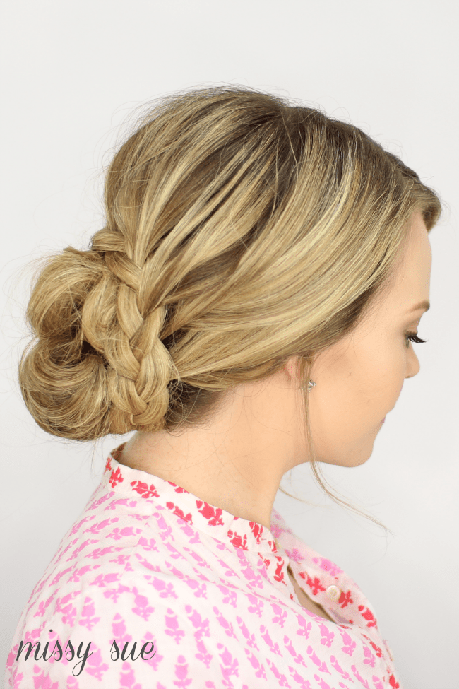 French Lace Braid Updo | MissySue.com