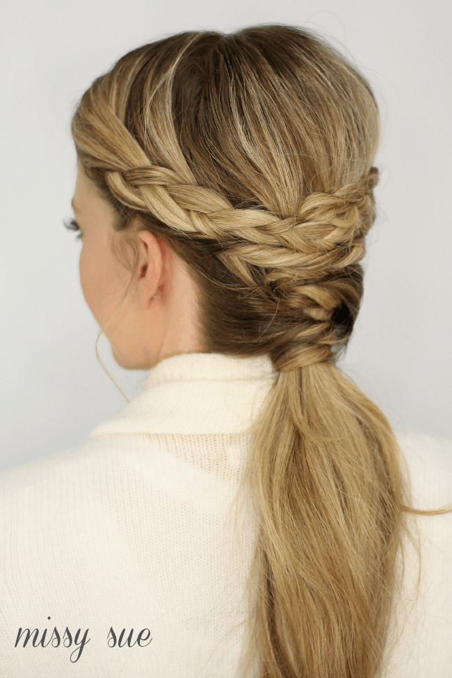 Braid Twisted Ponytail