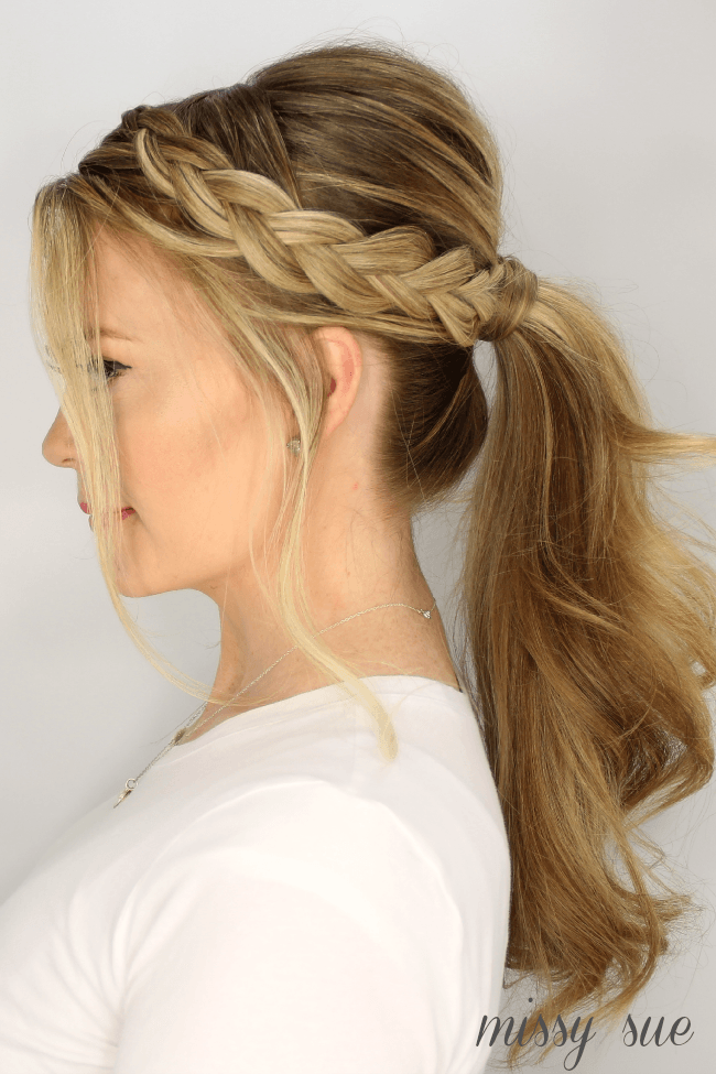 Peachy Dutch Braid Ponytail Tutorial Missy Sue Short Hairstyles Gunalazisus